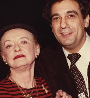 Bette Davis, Placido Domingo (Peter Warrack)