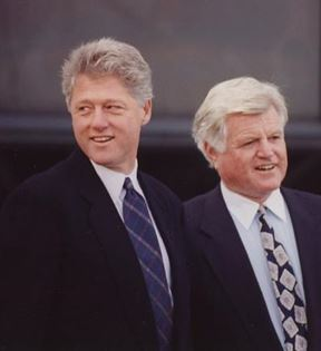 Bill Clinton and Ted Kennedy (Peter Warrack)