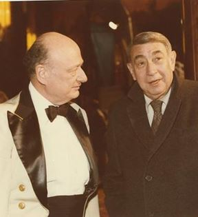 Howard Cosell & Ed Koch (Peter Warrack)