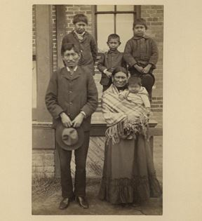 Sioux Indian Family
