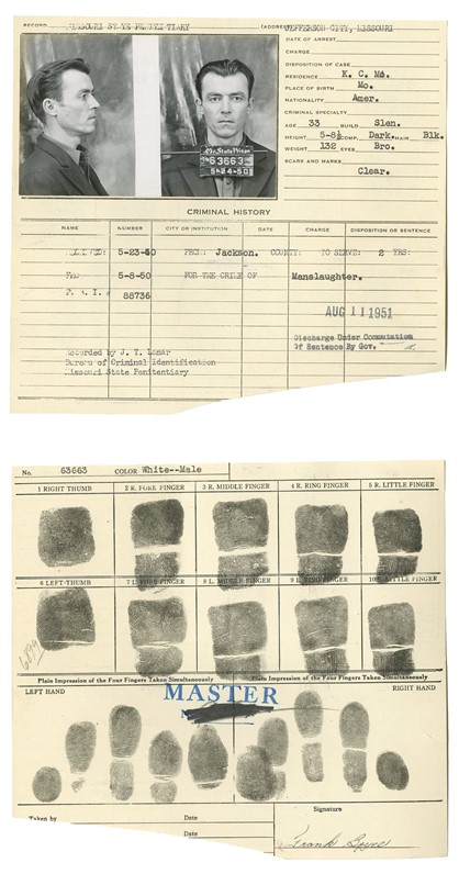 Police Booking Sheet