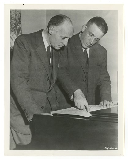 Pierre Bernac and Francis Poulenc