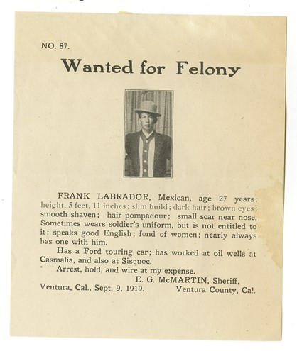 Wanted Notice